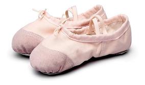 Zapatillas Ballet Danza Gimnasia Niñas Flexibles Tela Gamuza