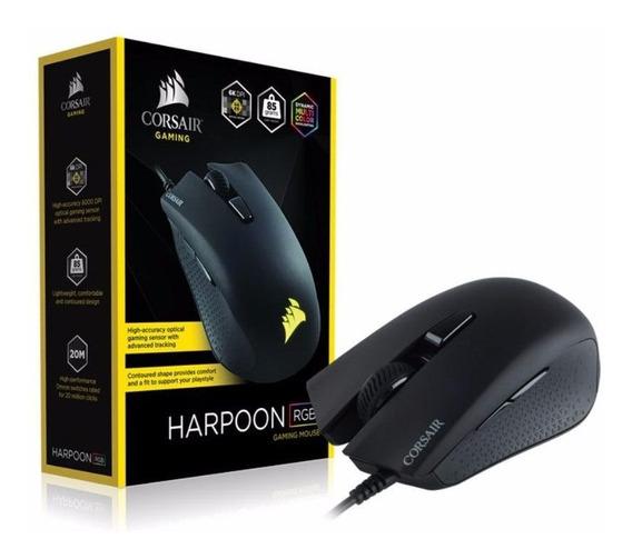 Mouse Gamer Corsair Harpoon Rgb Usb Optico 250 - 6000 Dpi