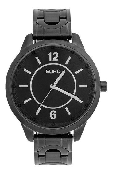 Relógio Euro Feminino Braceletes Eu2036yla/4p - Preto