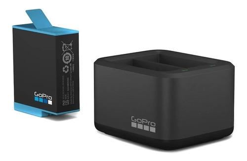 Imagen 1 de 5 de Cargador De Bateria Doble Gopro + Bateria Para Hero 9 Black
