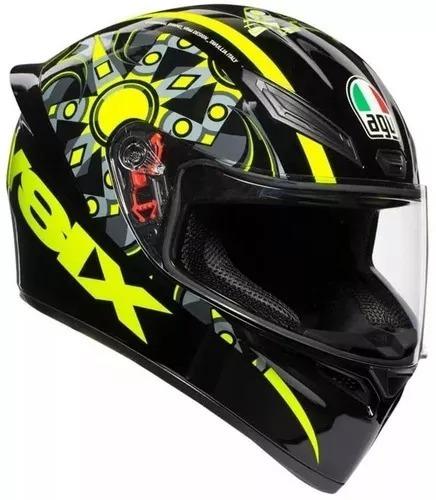 Capacete Agv K1 Flavum 46 Moto Gp Valentino Rossi Masculino