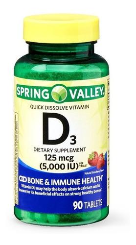 Vitamina D3 Disolucion Rapida 5.000 Iu Sabor Fresa 90 Tabs