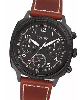 Reloj Bulova 98b245 Military Cronografo Acero Empa *551