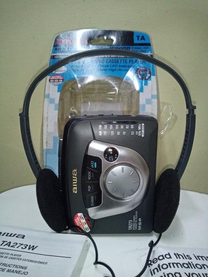 Walkman Aiwa Ta273 Com Rádio Am Fm