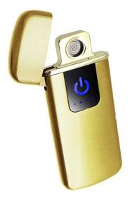 Isqueiro Usb Eletrônico Plasma Dourado