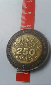 Moeda - 250 Francs - 1993 - Ouest Africaine