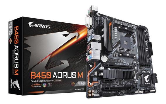 Motherboard Gigabyte B450 Aorus M Amd Am4 Ryzen Athlon