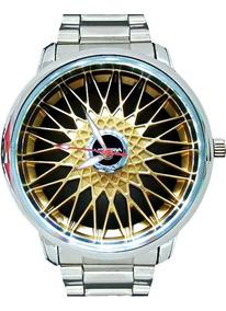 Relógio De Pulso Personalizado Roda Bbs Dourada Mais Vendido