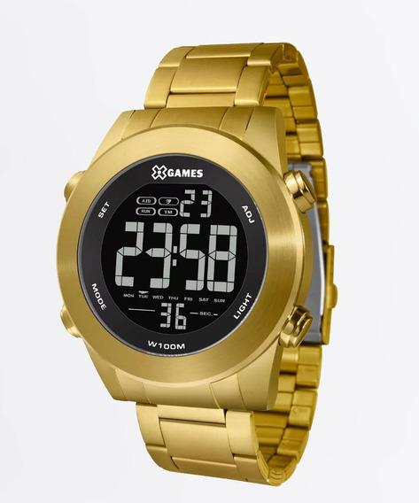Relógio Xgame Digital Masculino Dourado Xmgsd001 Pxkx De R$