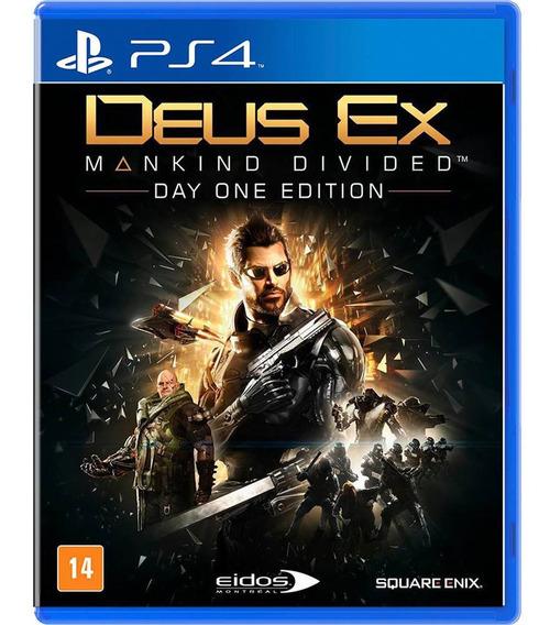 Deus Ex Ps4 Mídia Física Original Novo Lacrado Português Br