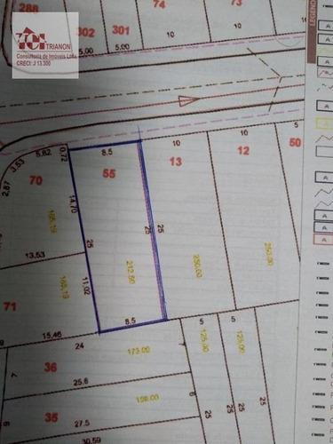 Terreno À Venda, 212 M² Por R$ 280.000,00 - Condomínio Maracanã - Santo André/sp - Te0359