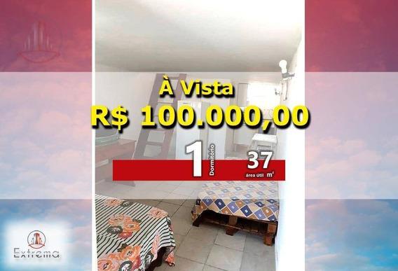 Kitnet Com 1 Dormitório À Venda, 37 M² Por R$ 100.000,00 - Ocian - Praia Grande/sp - Kn0150