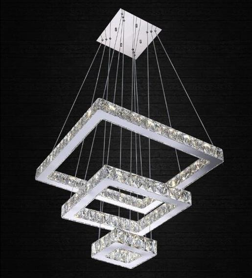 Lustre Pendente Cristal K9 Com Lampadas De Led Bivolt