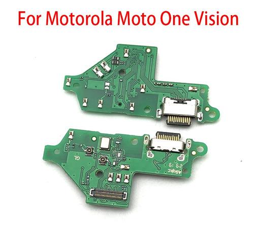 Flex Tarjeta Carga Microfono Motorola Moto One Vision