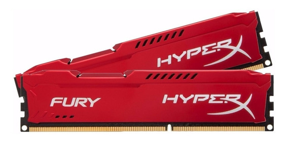 Memória Gamer 4gb Ddr3 1866mhz Kingston Hyperx Fury Lacrada