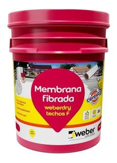 Membrana Fibrada Techos F Weberdry Weber 20 K Blanco Teja Mm