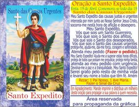Milheiro Santo Expedito Santinho Oração Verso Envio Imediato