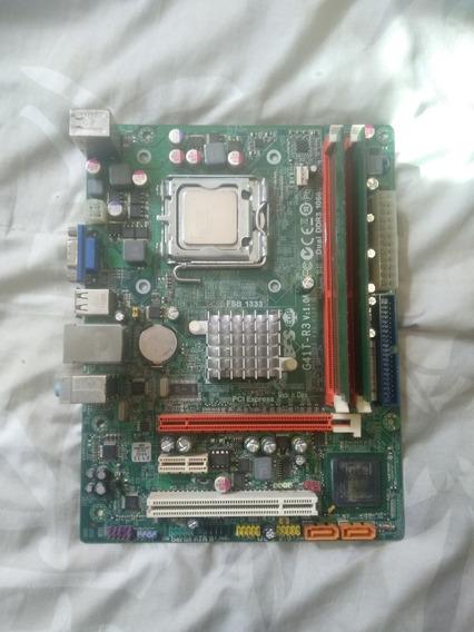 Processador Intel Pentium E5700 Com Placa-mãe 775 G41t-r3