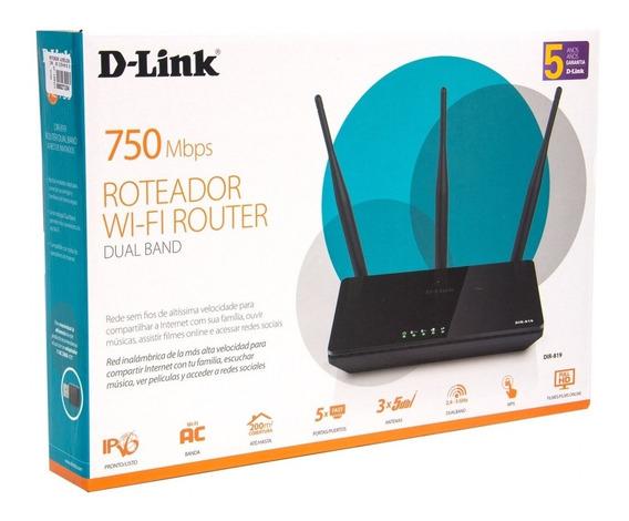 Roteador Ac 750mbps Dual Router D-link Dir-819 3 Antenas