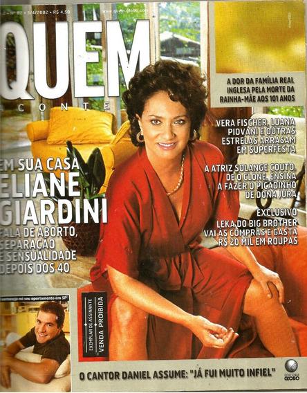 Revista Quem 82/2002 - Eliane Giardini/vera Fsicher/daniel