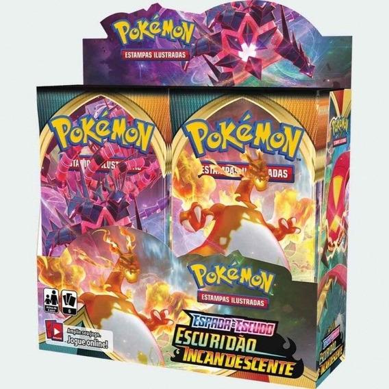 Display 36 Booster Cards Pokémon - Escuridão Incandescente