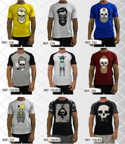 Camiseta T-shirt Camisa Caveira Treino Moda Masculina Fitnes