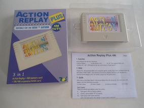 Action Replay Plus Para Sega Saturn 5 Em 1 Acessório