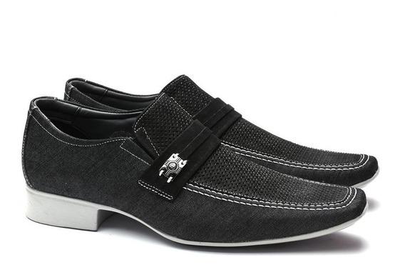 Sapato Social Jota Pe Jeans Preto