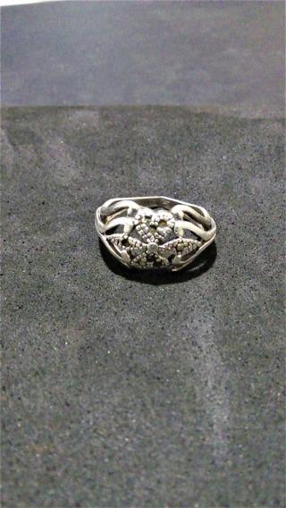 Anel De Luxo Prata 925, Raro,rico Em Detalhes Antigo