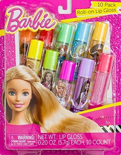 Brillo De Labios Roll-on De Barbie, Paquete De 10