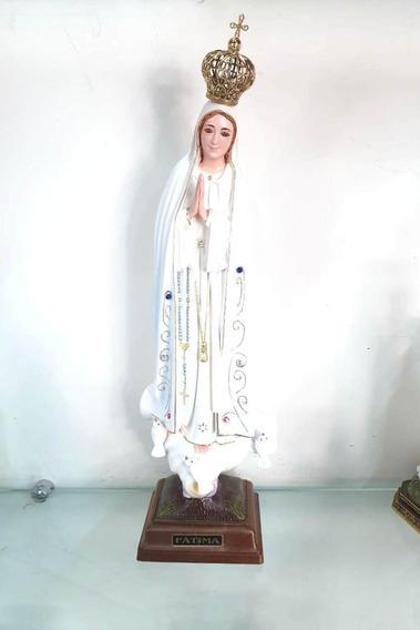 Imagem Nossa Senhora Fatima Olho Vidro Portugal Escu B 62cm