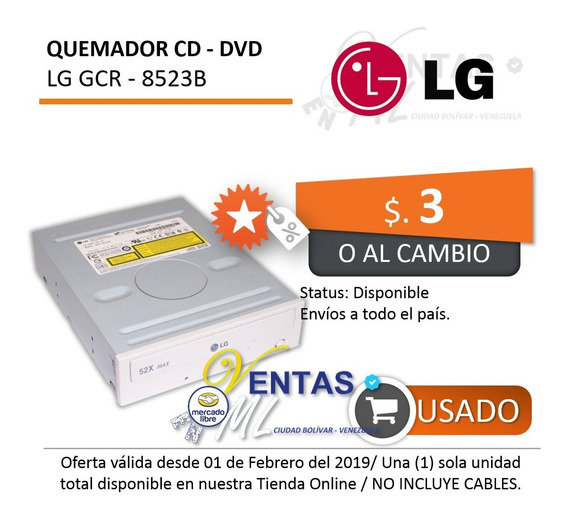 Quemador Lector Cd-rom Dvd-rom Lg Modelo Gcr-8523b 3