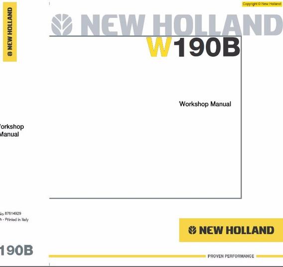 Manual De Serviço - New Holland - W190b