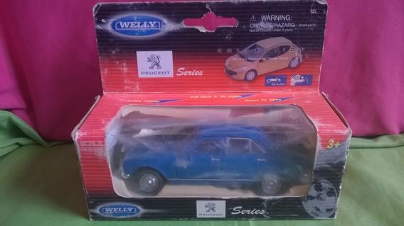 Auto Peugeot 504-welly-escala 1/38-en Caja