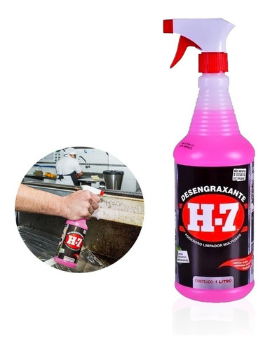 Desengraxante H-7 1lt Multiuso Limpeza Pesada Spray Original