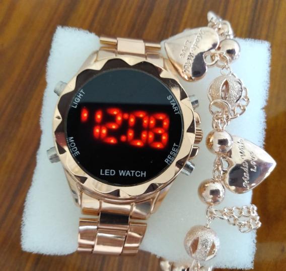 Relógio Digital+pulseira De Brinde Barato