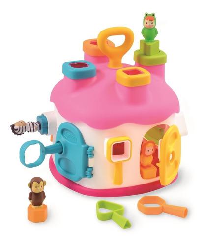 Imagen 1 de 2 de Casa De Encaje Con Figuras Cotoons ,rosada Bestoys