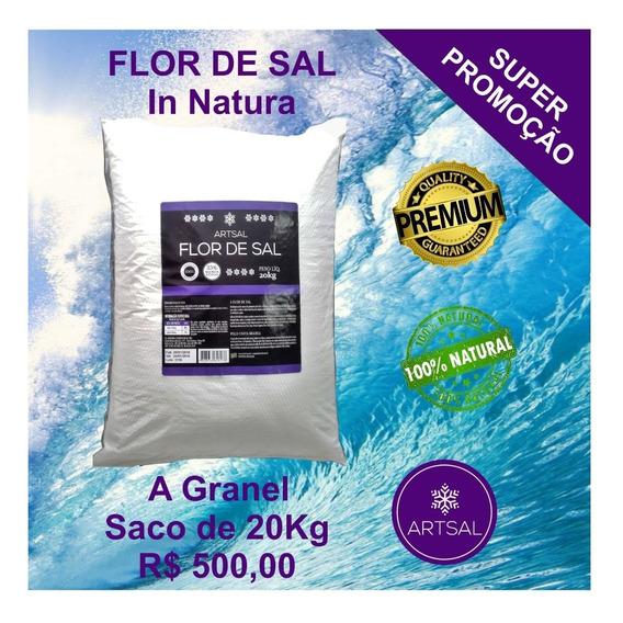 Flor De Sal Artsal 20kg 100% Natural