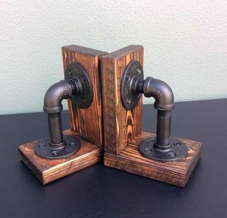 Sujetalibros Estilo Industrial Vintage
