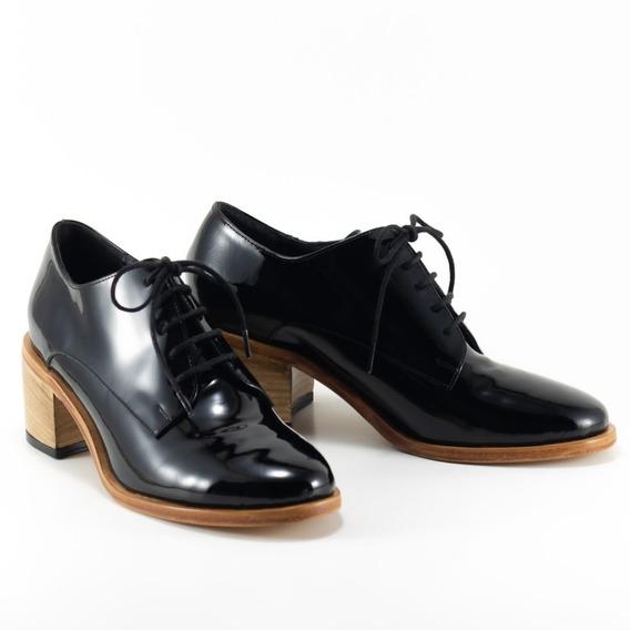 Zapato Acordonado De Charol Genuino - Bygint: Volta