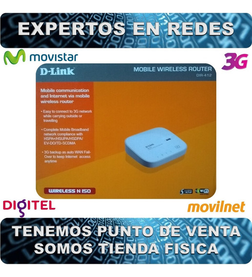 Router 3g D-link Dir-412 - Movistar-digitel-movilnet (demo)