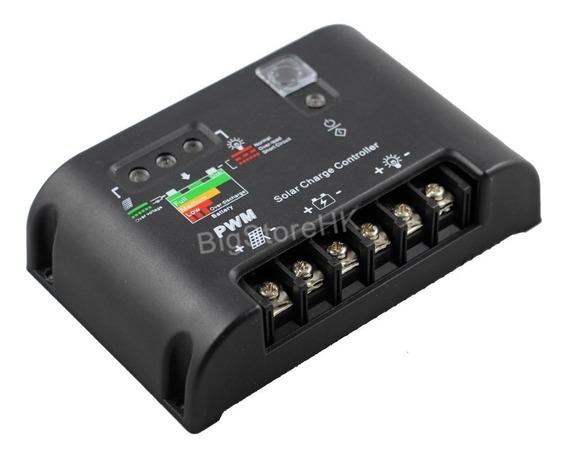 Controlador De Carga 40a Solar Pwm 12v 24v Kit/3peças