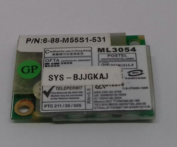 Placa Mini Modem Notebook Amazon Pc A601, 6-88-m55s1-531.