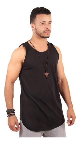 Kit Com 3 Camiseta Blusa Regata Camisa Masculinas Longline
