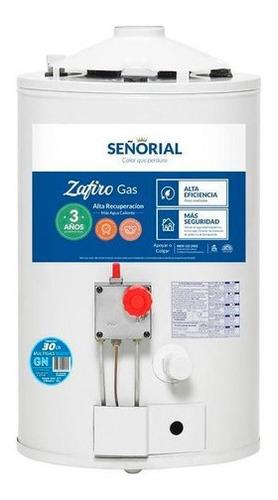 Imagen 1 de 2 de Termotanque Señorial Zafiro Multigas 30 Litros En Cuotas
