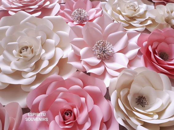 Flores De Papel Gigantes - Kit