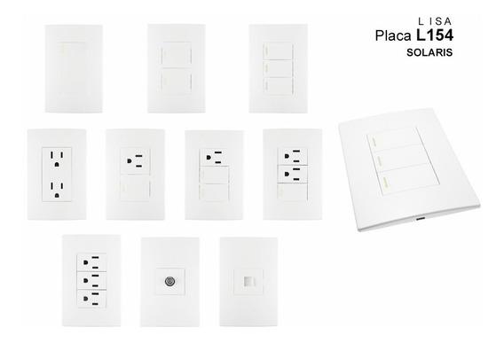 Apagadores Y Contactos, Placas Armadas Solaris Linea L154