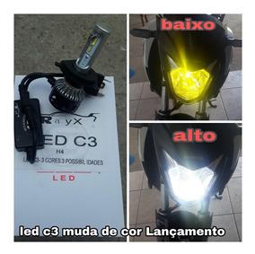 Super Led C3 H4 3000k 6000lm Rayx P/ Motos