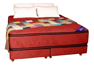 Sommier Colchon King Size Resortes Doble Pillow 2 X 2 Somier