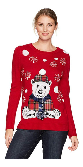 Sweater Navidad Ugly Sweater Christmas Mujer Oso Polar M